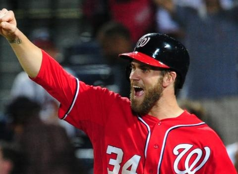 News video: Did Bryce Harper Intentionally Desecrate Braves' Logo?