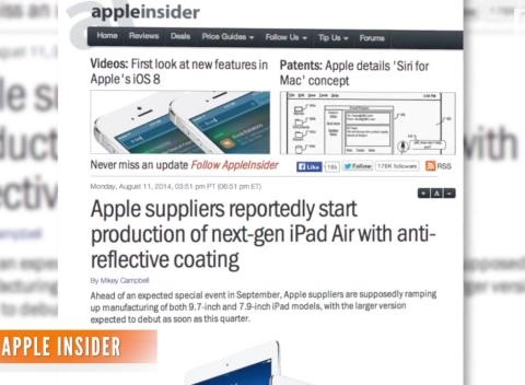 News video: Report: Apple Suppliers Have Started Production Of New iPads
